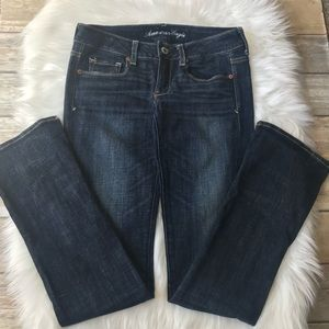 AMERICAN EAGLE Skinny Kick Stretch Long Jeans.